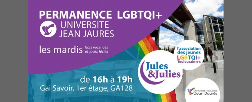 Permanence lgbtqiap+ Univ Jean Jau - Jules & Julies