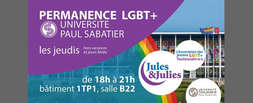 Permanence LGBT+ Univ Paul Sab - Jules & Julies