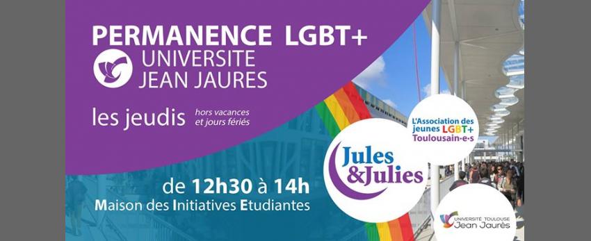 Permanence LGBT+ Univ Jean Jau - Jules & Julies