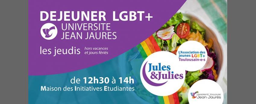 Déjeuner LGBT+ Univ Jean Jau - Jules & Julies