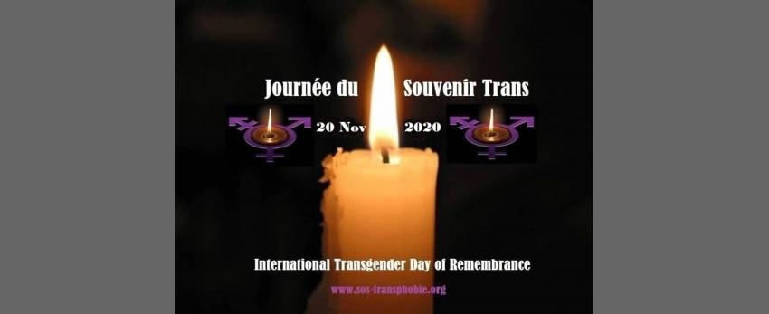 Journée du Souvenir Trans ( TDOR ) le 20 novembre 2020