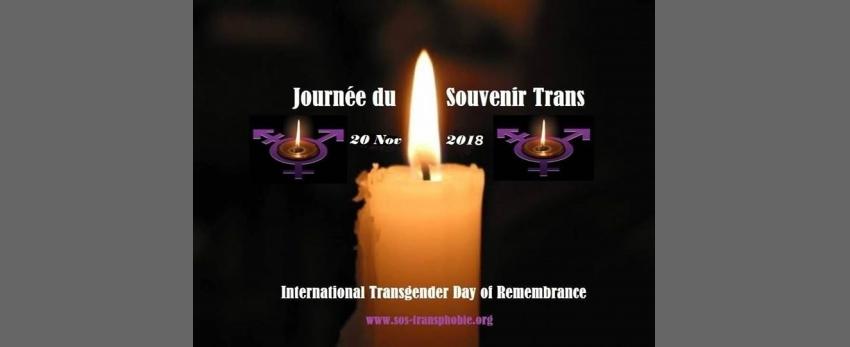 Journée du Souvenir Trans ( TDOR ) le 20 novembre 2018
