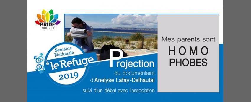 """Projection documentaire """"Mes parents sont homophobes"""" + Débat"""