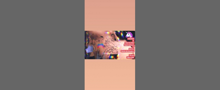 Abel de Mai - flash tattoos X BWYA - essayage/vente de binders