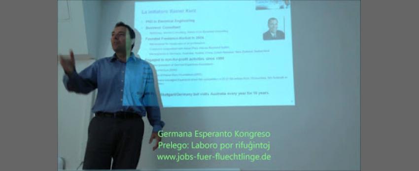 Conférence sur le travail des migrants en Allemagne.