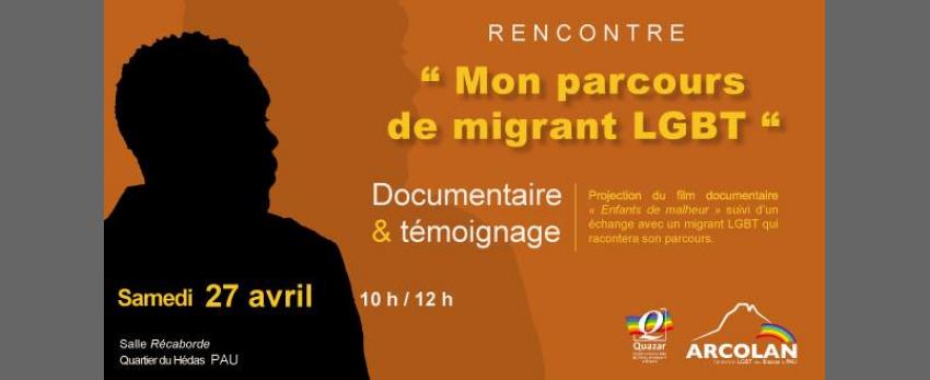 """Rencontre """"Mon parcours de migrant LGBT"""""""