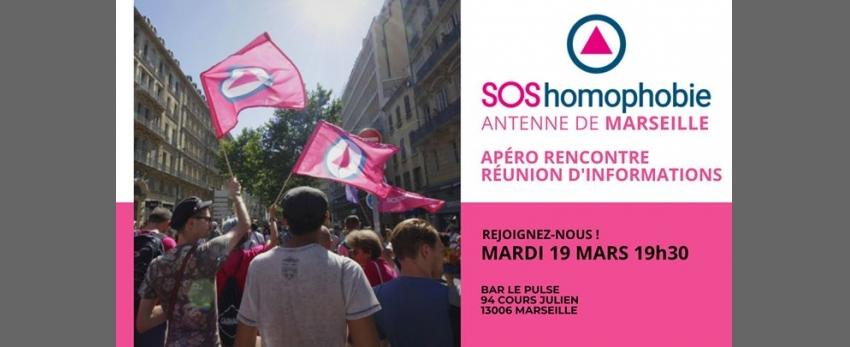Devenir bénévole à SOS homophobie ? Apéro rencontre Marseille