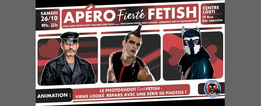 Apero Fierté-Fetish Photoshoot 26/10 Centre LGBTI Lyon