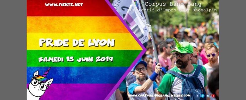 Les licornes de Corpus Bang Bang à la Pride de Lyon