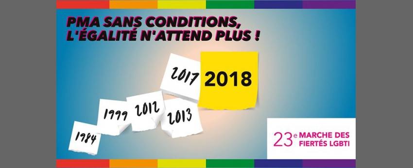 23ème marche des fiertés LGBTI - Lyon 2018
