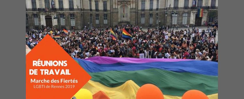 Réunions de travail : Marche des Fiertés LGBTI de Rennes 2019