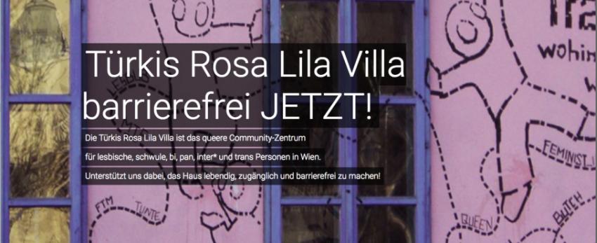 Türkis Rosa Lila Villa