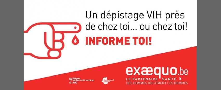 CHARLEROI.Test VIH/Syphilis/VHC: Gratuit, Rapide, Confidentiel