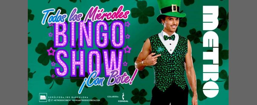 ¡Bingo Show! con BOTE- cada miércoles en Metro Disco