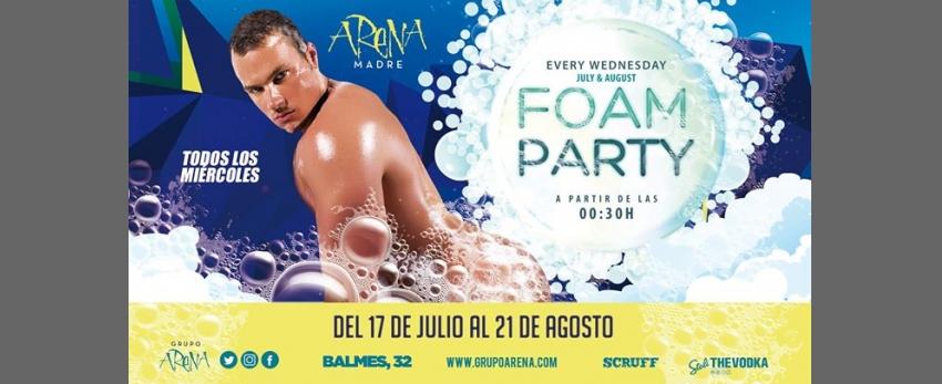 Foam Party · Fiesta de la Espuma · Miércoles · Arena Madre