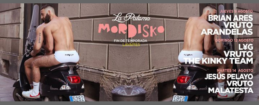 Mordisko Lavapiés La Paloma 9, 12 ,14 Agosto Fin de Temporada