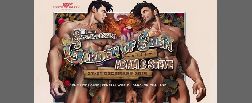 White Party Bangkok Presents Garden of Eden with Adam & Steve
