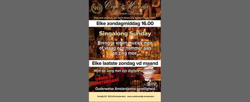 Singalong Sunday - elke Sunday