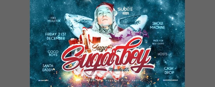 Sugarboy - Christmas Special - This Friday side entrance of Cruz