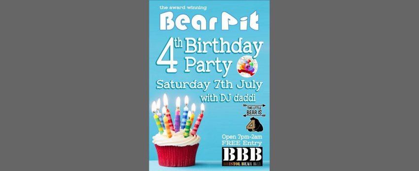 BearPit 4th birthday!