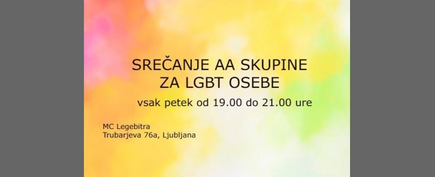 Srečanje AA skupine za LGBT osebe