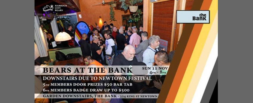 Bears at the Bank (in the Garden) & $300 Members badge draw