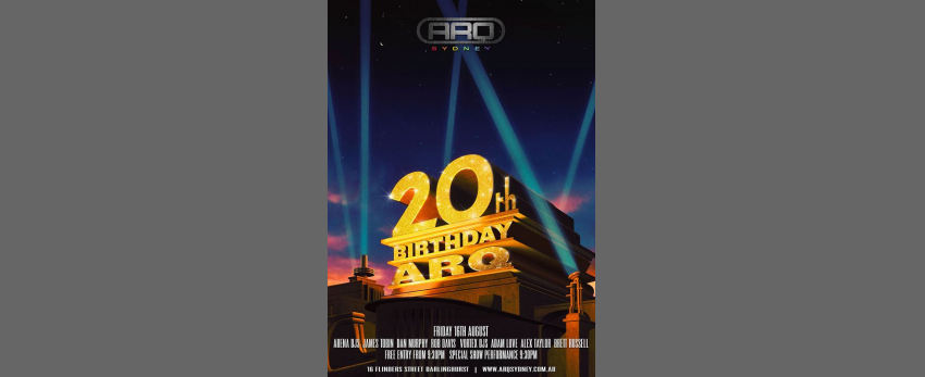 ARQ's 20th Birthday Party.