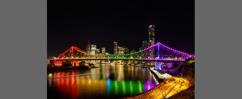 Story Bridge Pride Lights Up