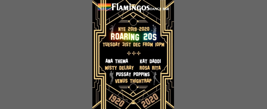 Flamingos Return to the Roaring 20s NYE Party!