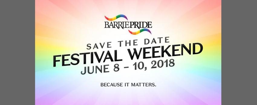 Barrie Pride 2018 Festival Weekend