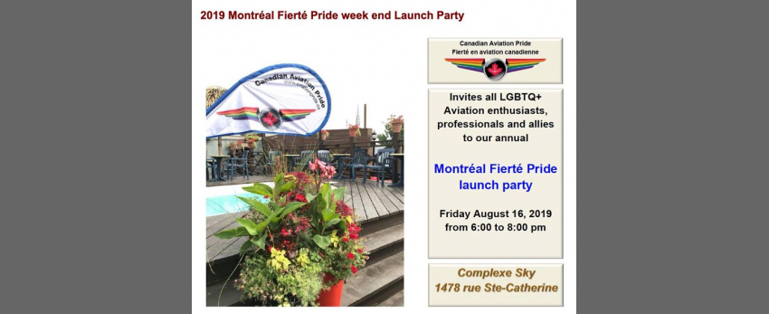 YUL CAP Fierté 2019 Pride Launch Party