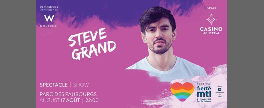 Festival Fierté Montréal – Steve Grand présenté par W Montréal