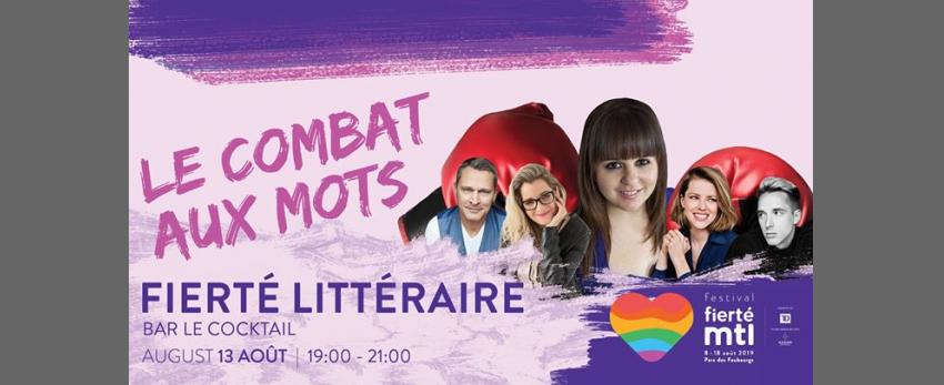 Festival Fierté Montréal - Fierté littéraire: Le combat aux mots