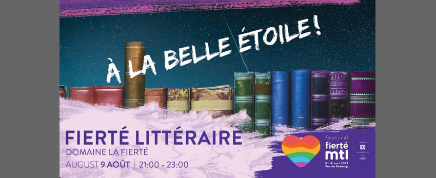 Festival Fierté Montréal - Fierté littéraire à la belle étoile