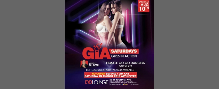 GIA Saturdays (Girls Night) at E-Lounge