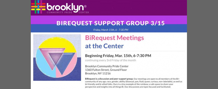 BiRequest at the Brooklyn Pride Center
