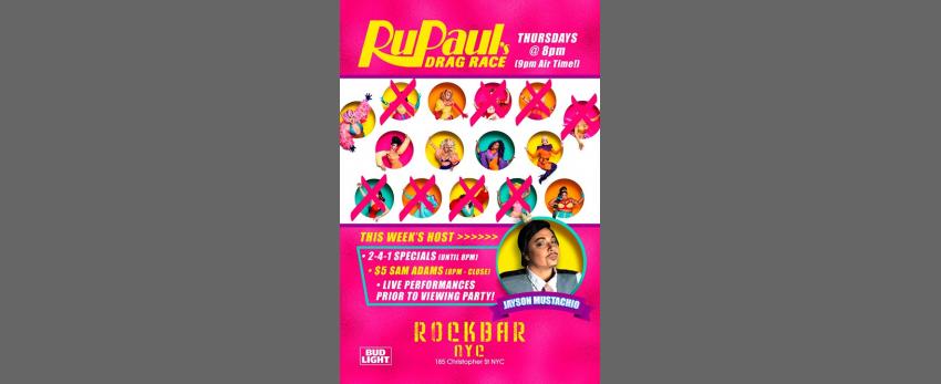 Rockbar's Drag Race Viewing Party!
