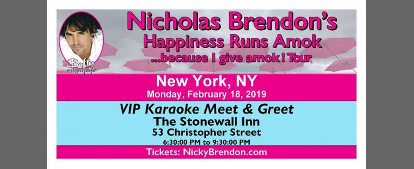 Nicholas Brendon Karaoke Meet and Greet - New York (NY)