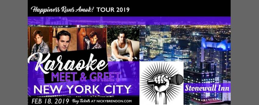 Nicholas Brendon Karaoke Meet and Greet - New York (NY) in New York