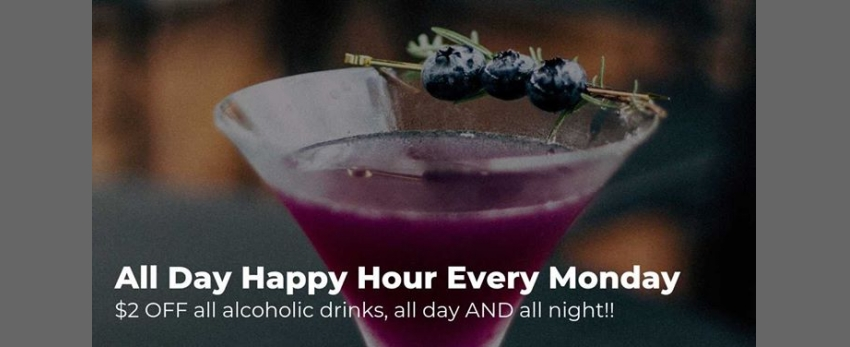 All Day Happy Hour Every Monday at Townhouse Bar NYC
