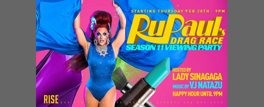 Rupauls Drag Race 11 viewing party at Rise