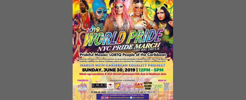 WorldPride 2019 - March with Caribbean Equality Project