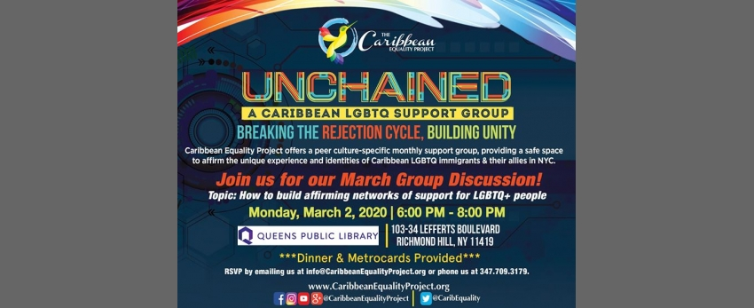 Unchained: A Caribbean LGBTQ Immigrant Support Group