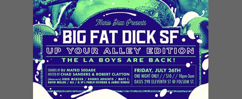 BFD SF: Up Your Alley Edition: Tomorrow Friday! La Boys Are Back