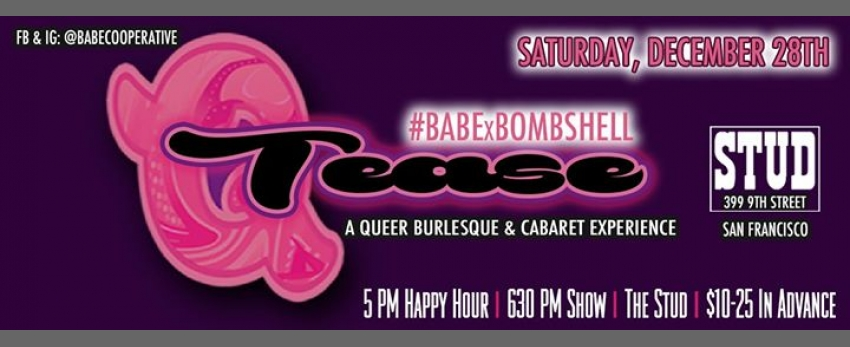 12/28 - BABExBombshell #QTease at the Stud