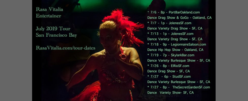 Rasa Vitalia - July 2019 Tour - San Francisco