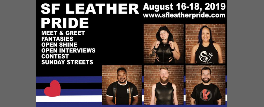 Mr. SF Leather and SF Bootblack Contests - 2020 titleholders