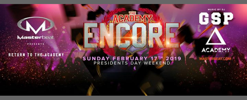 Masterbeat Encore: Academy President's Weekend