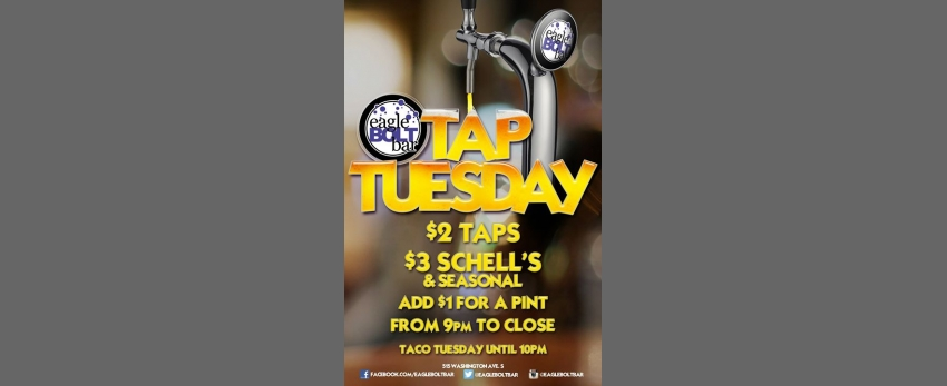 Tuesdays at the eagleBOLTbar
