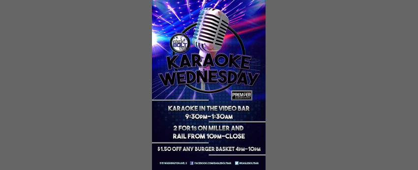 Karaoke Wednesday at the eagleBOLTbar